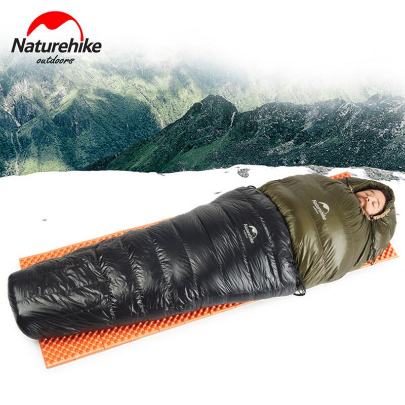 Naturehike Spring And Autumn Half Chest Travel Sleeping Bag Duck Down Lazy Ultralight Camping Tourism Bags In From Sports