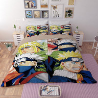 Uzumaki Naruto DRAGON BALL Bedding Twin Full Queen King Single Double Size Duvet Cover Pillowcase Anime Fabric Print