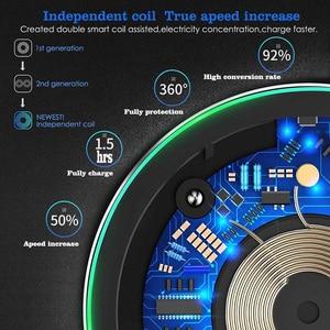 Image 4 - 15W Schnelle Qi Drahtlose Ladegerät Für Xiaomi 9 Huawei P30 Pro Schnell 10W Lade Pad Für Samsung S9 s10 iPhone X XS MAX XR 8 Plus