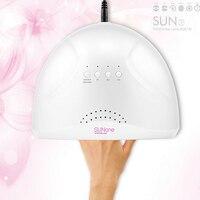 SunOne 48 W UV Lamba Oje Kurutucu LED Beyaz Işık 5 S 30 S 60 S Kurutma Tırnak ve Ayak Tırnağı Jel Kür Tırnak Yeni Sanat Kurutma Manikür