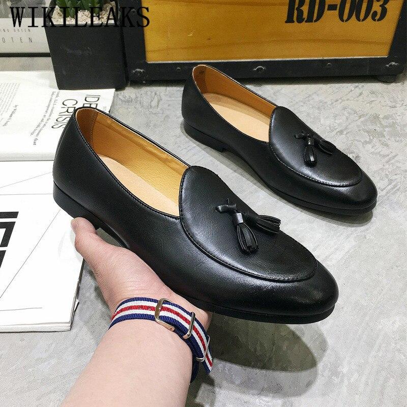 a1812c3a7e Cheap Italiano de marca de lujo zapatos de vestir para hombre zapatos borlas  mocasines zapatos de