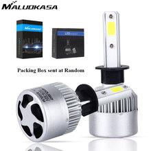 MALUOKASA 2PCs S2 H7 H4 LED Bulb Car Headlight H11 H1 H13 H3 H27 9005 HB3