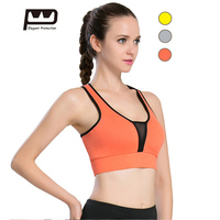 Elegant Protection New Gym Woman Fitness Top Nylon Spandex Sports Bra Fitness Underwear Tops Super Elasticity