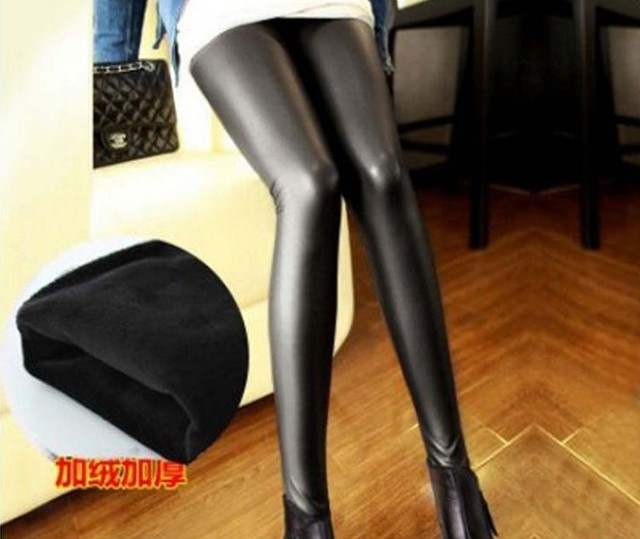 fashion winter leather pants Leggings with  Pregnant Women Leggings Care Of Pregnant Women Belly Pants Maternity