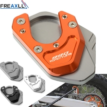 For KTM 990 Adventure 990Adventure 2006-2012 CNC Motorcycle Aluminum Kickstand Side Stand Plate Pad Support Enlarge Extension motorcycle cnc kickstand foot side stand extension pad support plate enlarge stand for ktm 950 supermoto 2006 2007 with logo