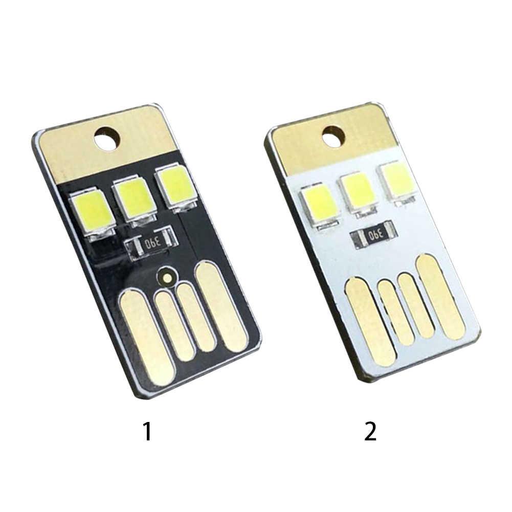 USB de alta calidad LED pequeñas luces Mini Delgado móvil portátil USB Lámpara de Camping al aire libre luz de noche de bebé