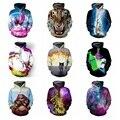 De alta calidad de béisbol marea ropa 3D creativo tridimensional impresión de manga larga suéter chico Hip-Hop ropa 15-20 años