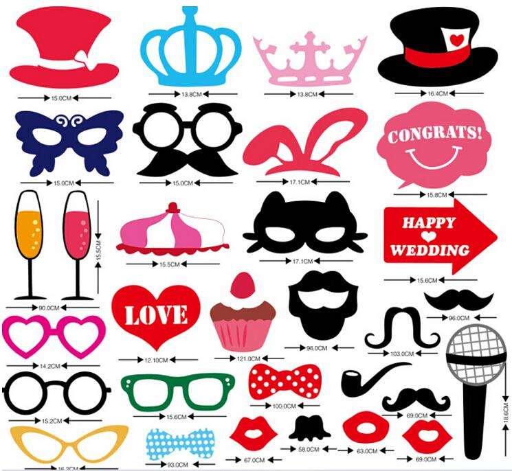 31pcs Mustache On A Stick Wedding Party Photo Booth Props Photobooth Funny Masks Bridesmaid Gifts For Decoration In From Home