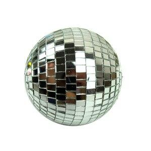 Image 3 - 1 個直径 10/12/15/20 センチメートルミラーボール反射装飾ボールバーディスコボールウェディングガラスボールケーキ装飾ゴールド/ホワイト
