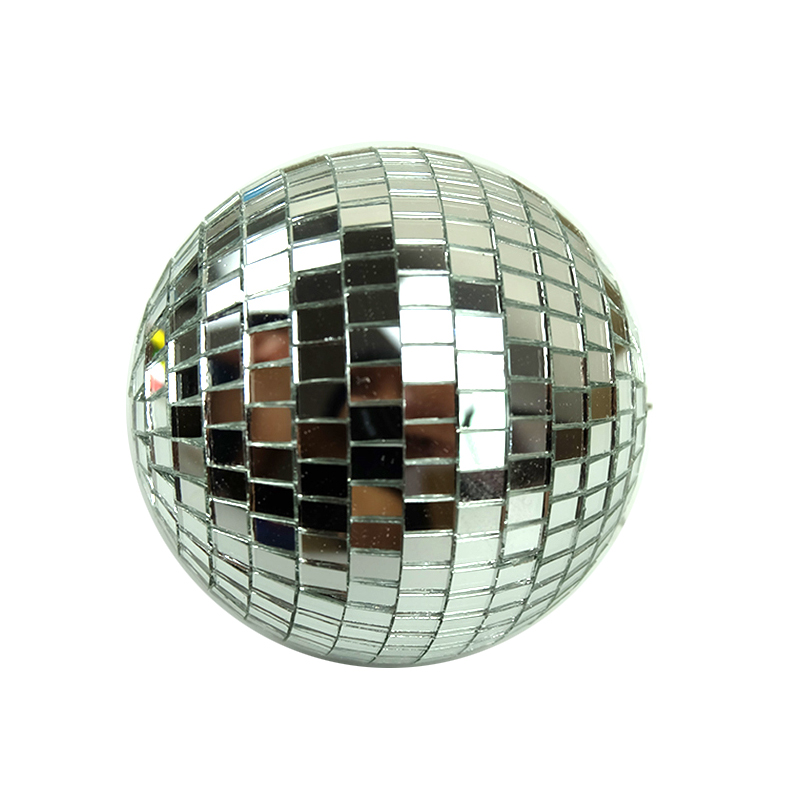 Image 3 - 1pcs Diameter 10/12/15/20cm Mirror Ball Reflective Decorative Ball Bar Disco Ball Wedding Glass Ball Cake Decoration gold/white-in Stage Lighting Effect from Lights & Lighting on