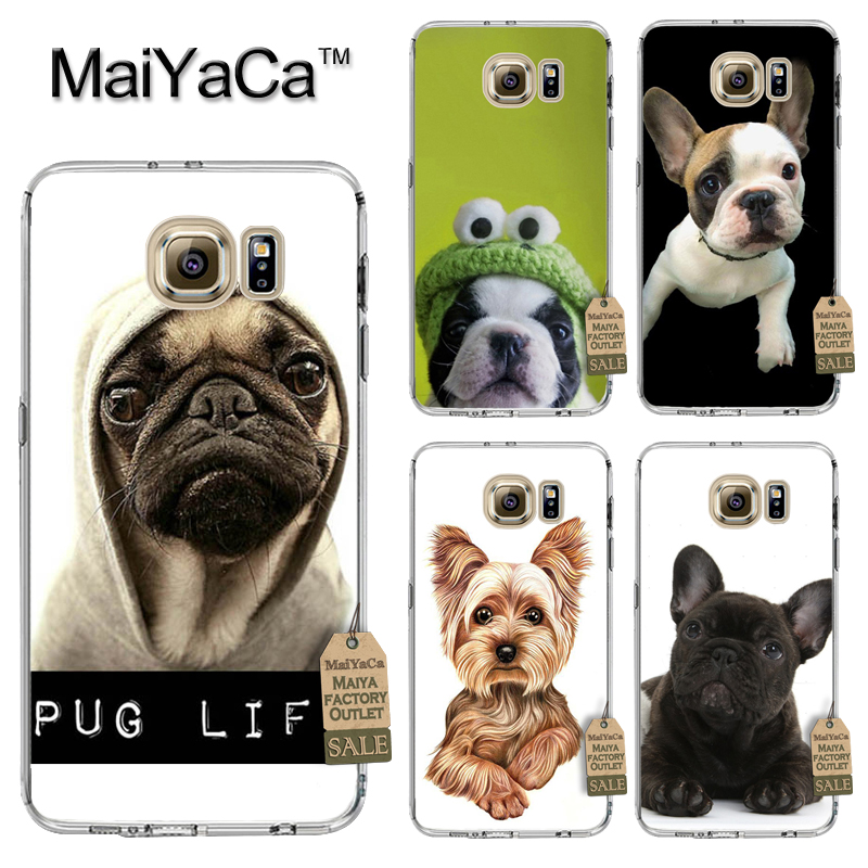 MaiYaCa Phone Case Accessories For Samsung Galaxy s8 plus s7edge s5 s6edge plus s7 s8 case cute pug Terrier puppies dog Soft TPU ...