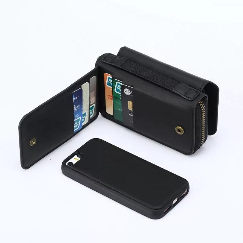 Multi Fungsi Zip Dompet tas Ponsel Untuk iPhone 5 6 7 6 plus Lipat 3 - Aksesori dan suku cadang ponsel - Foto 4