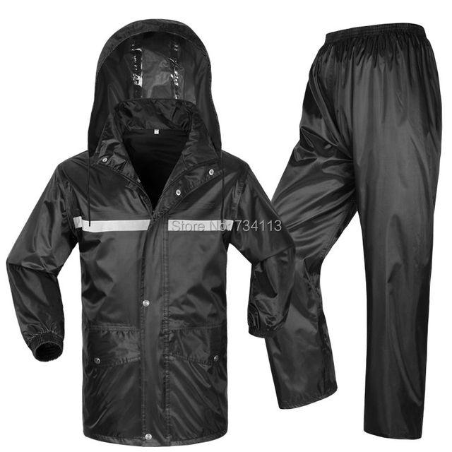 Storm raincoats High Quality rain coat fishing Outdoor Sports Wind-resistant  Jacket Men Women Waterproof Rain Coat Suit 4XL 3ee314522b39