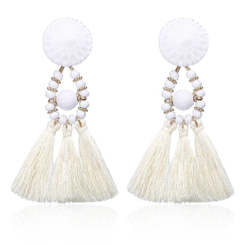 2018 Brincos Women Brand Boho Drop Dangle Fringe Earring Vintage Ethnic Statement Tassel earrings fashion jewelry Charms e0502