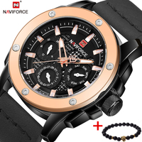 Watches Men NAVIFORCE Brand Quartz Watch Leather Fashion Casual Reloj Hombre Army Military Sport Wristwatch Relogio