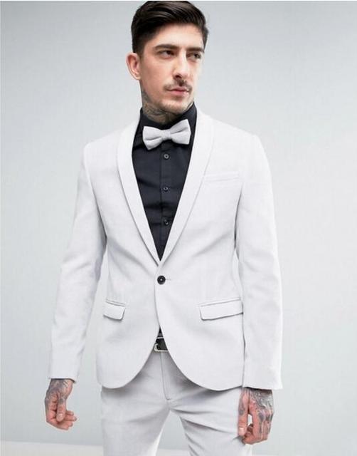0841efe64dc Latest Coat Pant Designs Ivory White Shawl Lapel Casual Men Suits Groom  Custom Tuxedo Slim Fit Jacket 2 Pieces Blazer Terno DW