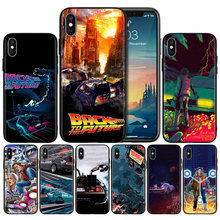 Back to the Future DeLorean Time M Anti-knock Silicone Case Cover for iPhone X XS XR XS 11 11Pro Max 7 8 6 6S 5 5S 5C SE Plus(China)