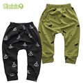 Nuevo Diseño de Algodón Babys Niños Niñas Harem Lindo Modelo Geométrico Pantalones Del Bebé Para El Bebé Recién Nacido Pantalones Niño Niña Ropa