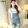 Jeans Overalls Women 2017 New Casual Hole Ripped Denim Jeans Shorts Blue JRSJ25
