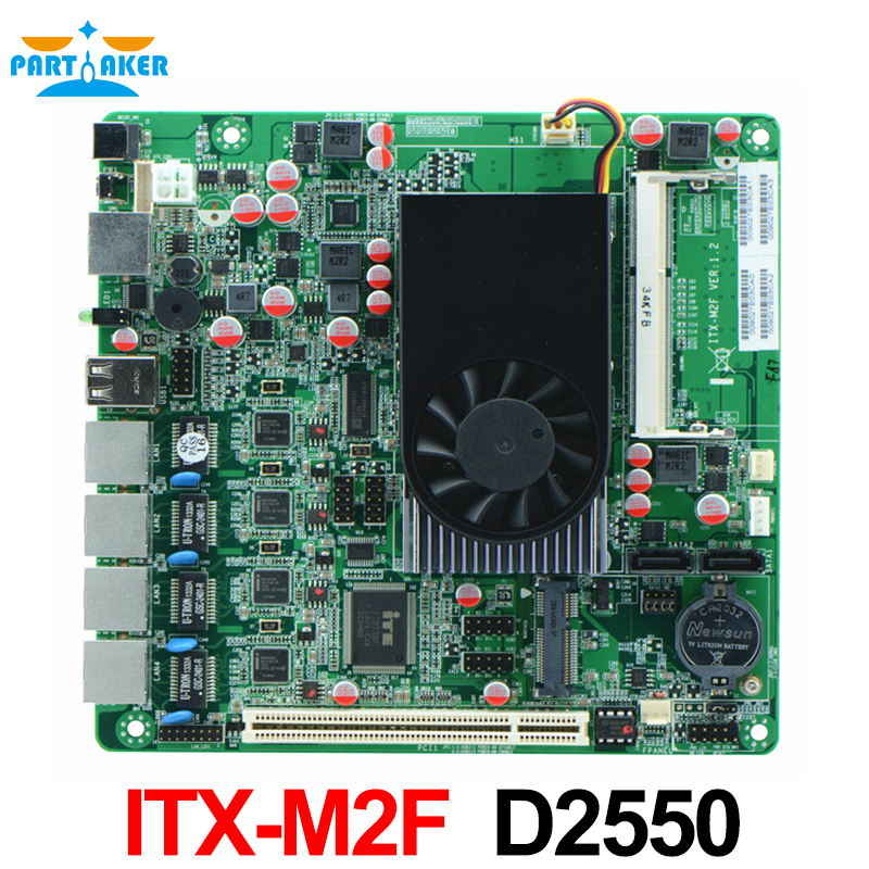 ITX-M2F Mini-Itx motherboard for 1U firewall ,firewalls Security appliance motherboard for 4 lan