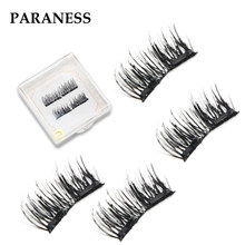 2 Magnet 3D Reusable False Eyelashes Magnetic lashes eyelash Magnetic Eye Lashes Eyelashes on magnets 0.07 eyelash extensions(China)