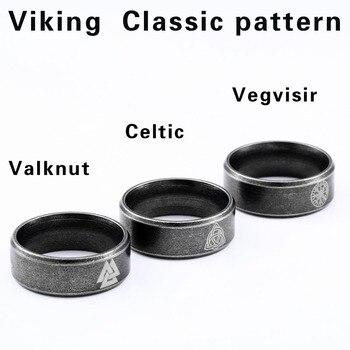 Beier 316L Stainless steel nose viking scandinavian Odin 's Symbol Valknut for men Wedding Ring Cool fashion Jewelry LR-R093 1