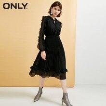 ONLY Women's Ruffled Elasticized Waist DressRuffled Lace-up design|118307598 цены