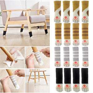 Chair-Leg-Cover Foot-Sock Floor-Protectors Table Lovely Floral-Kint-Cover Home-Decor