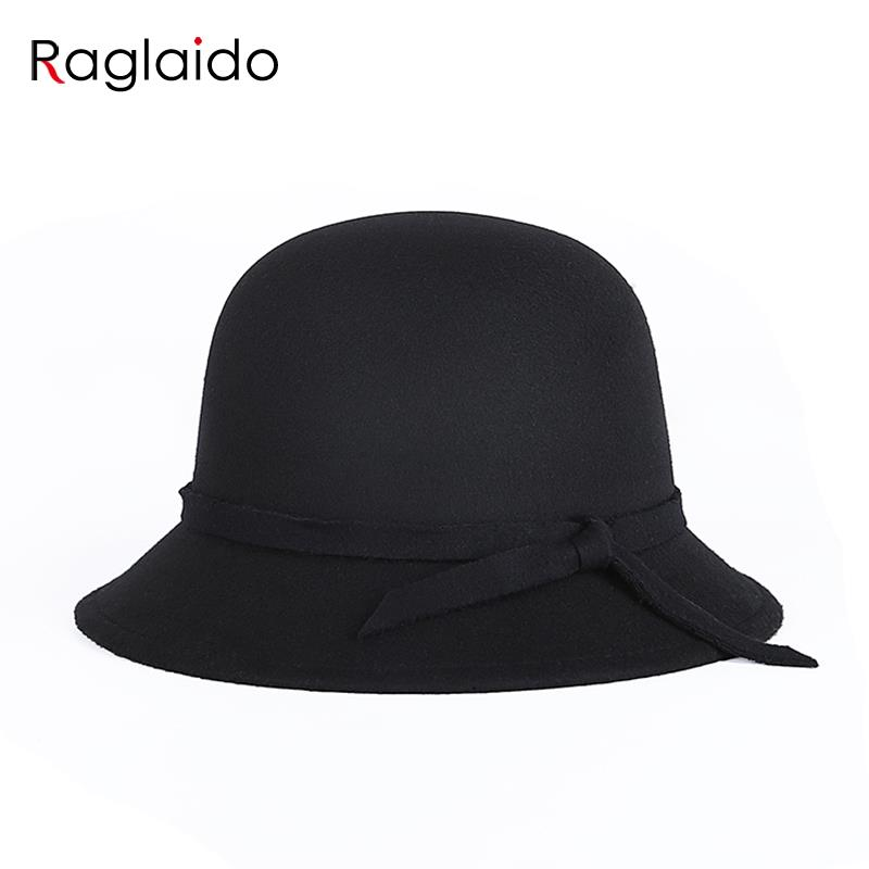 raglaido black hat fedoras felt hats new fashion