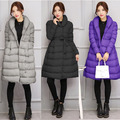 Grey Black Violet Winter Maternity big Yards Thick Down Jacket Female Loose Large Size Increase