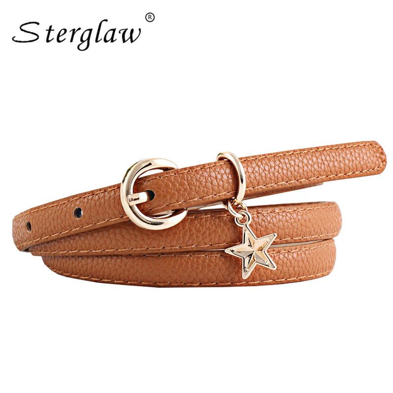 Hot Selling Women's Thin Leather Straps 2020 New Designer Belts Womens High Quality Patent Modeling Belt For Ladies Dress N132