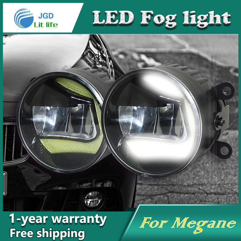 Super White LED Daytime Running Lights case For Renault Megane 2004-2012 Drl Light Bar Parking Car Fog Lights 12V DC Head Lamp led auto car drl daytime running lights gloss style fog lamp with turn off and dimmer function case for 2012 ford focus 3