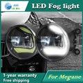 Super White LED Luzes Diurnas Para Renault Megane 2004-2012 Barra de Luz Drl Estacionamento Luzes de Nevoeiro Carro 12 V DC Head Lamp