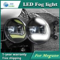 Super White LED Daytime Running Lights Case For Renault Megane 2004 2012 Drl Light Bar Parking