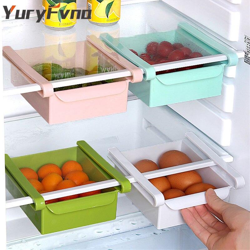 YuryFvna рисунок Тип холодильник коробка для хранения холодильник держатель Органайзер для морозилки стеллаж для хранения еда контейнер для х...