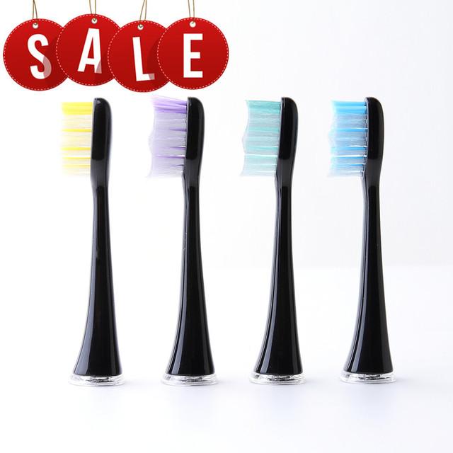 4 unids/pack blyl cepillo de dientes eléctrico jefes de reemplazo de dientes eléctrico higiene oral de sonic cepillo de dientes cabezas con dupont