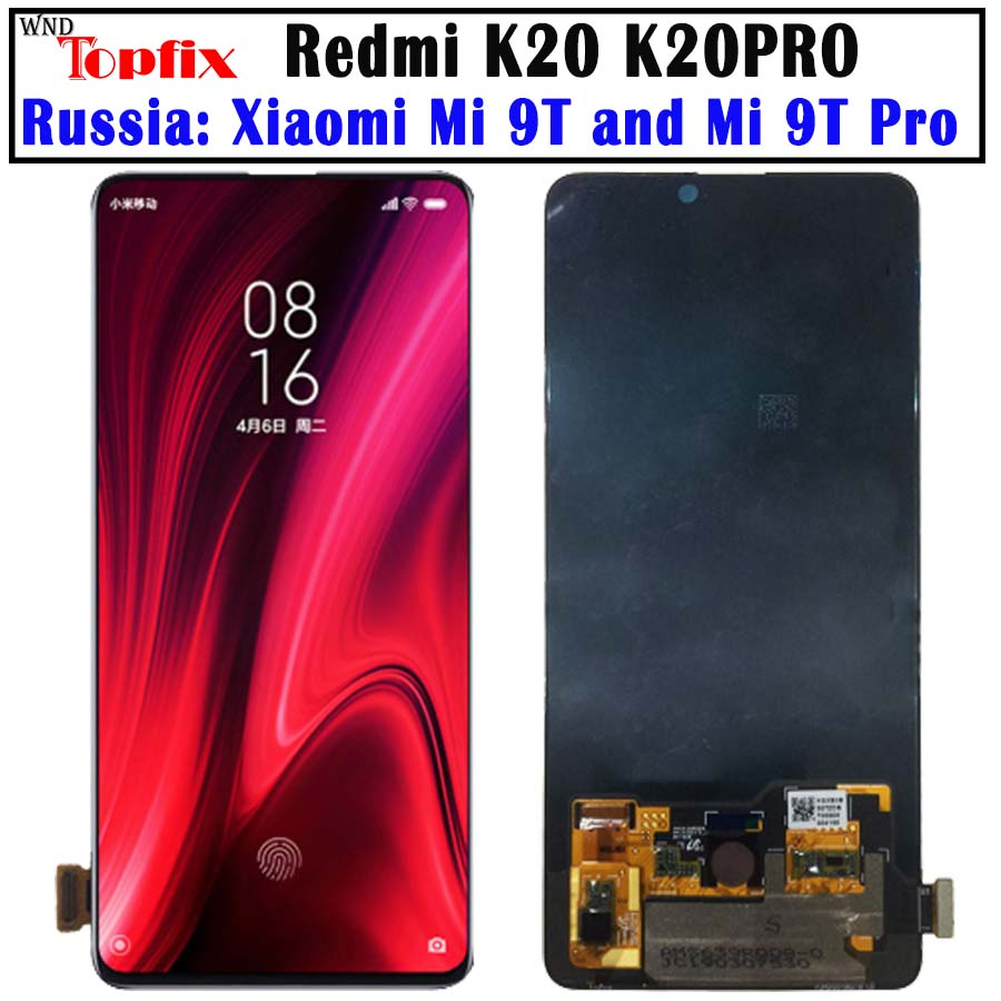 AMOlED Original For Xiaomi Redmi K20 Pro LCD Mi 9T Pro Display Touch Screen Digitizer Assembly
