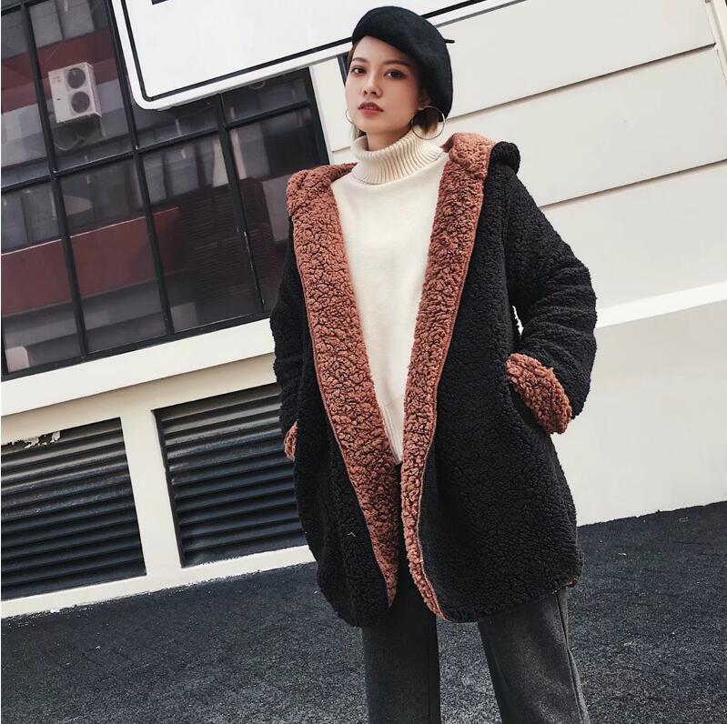 Nieuwe 2018 Lente herfst Vrouwen Hoodies Fleece Hooded Lange Mouwen Thicken Jassen vrouwen Winter Warm Sweatshirts Vest Sudaderas-in Eenvoudige Jassen van Dames Kleding op  Groep 3