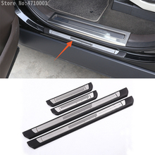 ABS Car Outside Door Sill Wear Protector Plate with Logo Accessories For Land Rover Discovery 5 LR5 2017