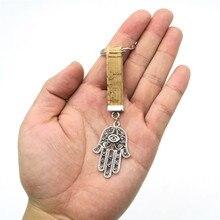 Porta chaves mão de fátima em cortiça natural