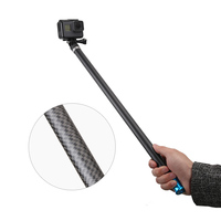 106 Long Carbon Fiber Handheld Selfie Stick Extendable Pole Monopod for GoPro Hero7 6 5 4 3 for Xiaomi YI Action Camera