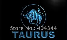 LK455- Taurus ZODIAC Astrology Window LED Neon Light Sign home decor crafts(China)