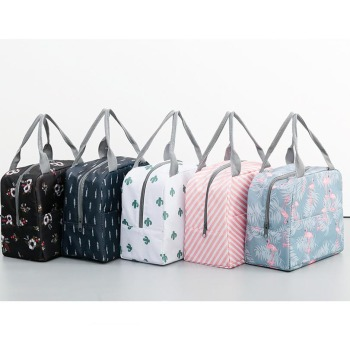 227c26bfb8b1 Functional Pattern Cooler Lunch Box Portable Insulated Canvas Lunch Bag  Thermal Food Picnic Lunch Bags For Women Kids