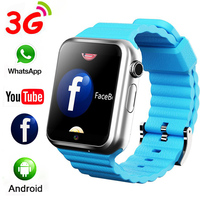Smart Watch 3G Wifi Sport Fitness Tracker Casual Clock Camera SD Memory Card Watch with Whatsapp Facebook Youtube APP Smartwatch