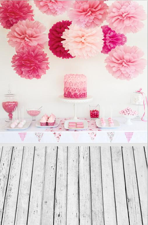 Pink Cake Table 3D Paper Flower photo backdrop Vinyl cloth High quality Computer printed birthday  photo studio background guilin guangxi hong source specialty rose flowers cake 240g6 gold handmade flower cake pastry boxed 2 boxes