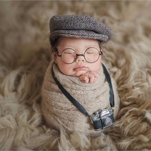 Newborn photography accessories Baby DIY Props Creation Gentlemen Camera bebe Costume Boy Infant Mini Glasses for Dolls Studio(China)