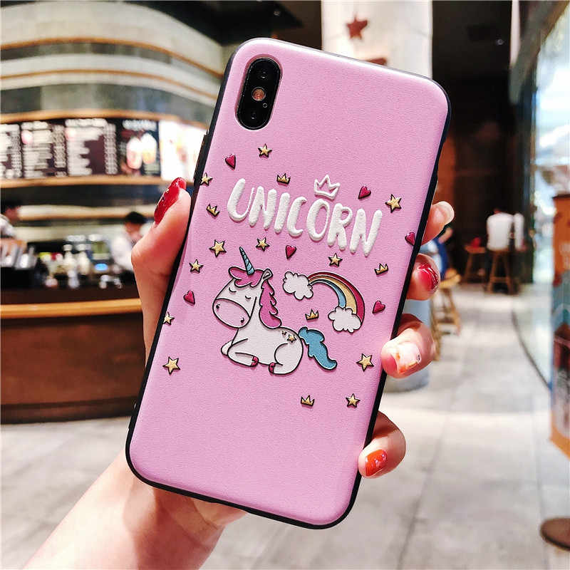 3D Cartoon Matte Case For Huawei P20 Lite Pro For Huawei P30 Mate 20 10 Honor 8X 9 10 Lite Pro P Smart 2019 Emboss Silicon Cover