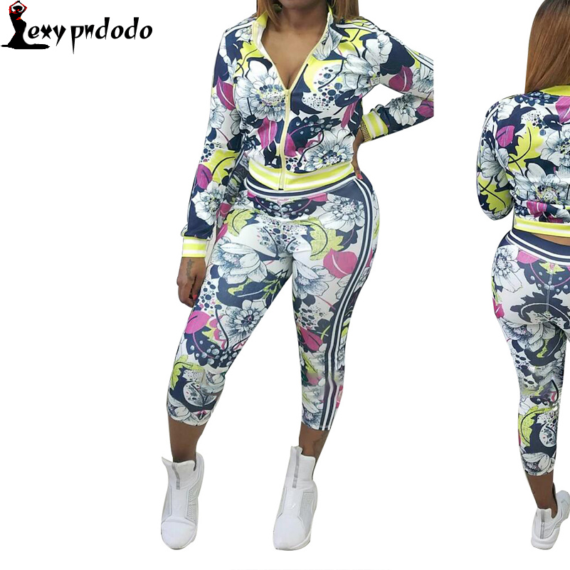 2016New Autumn/Winter 2 Piece Set Women Printed Slim Long Sleeve And Pants Twinset Tracksuit Woman Tie Dye Two Piece Set Outfits