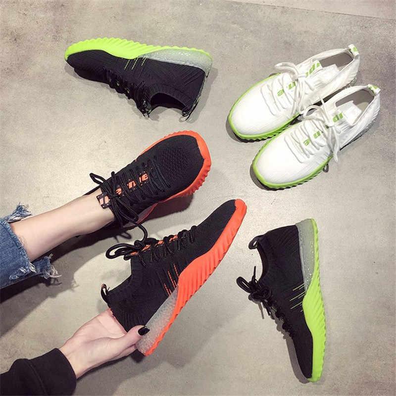 2018 женская повседневная обувь на платформе женские кроссовки прогулочная обувь легкие удобные дышащие сетчатые туфли tenis mujer L