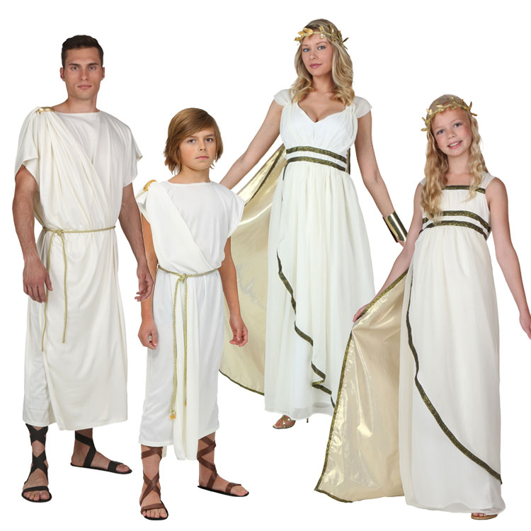 New IREK Cosplay Party Costume Adult Children Halloween Classic  Roman Official  Athena Goddess Costume High Quality